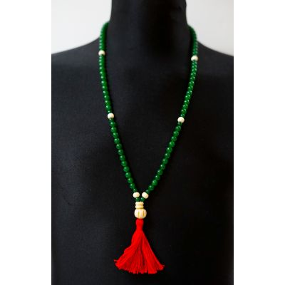 Green Jade Mala - Prayer Beads